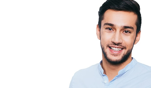 Image of a young man who has visited our Bellevue Dentist for cosmetic dentistry